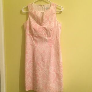 Shoshanna pink cotton dress